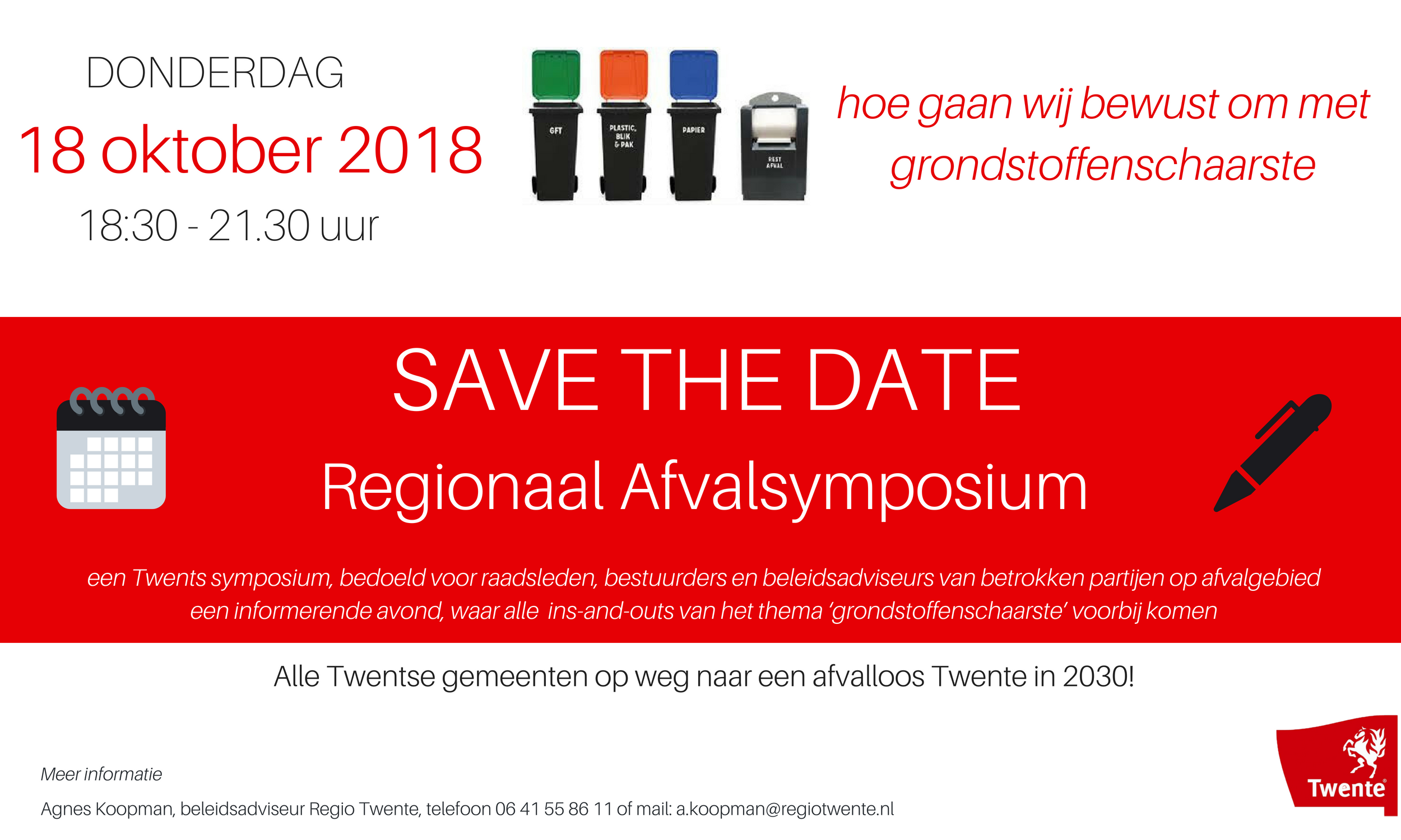 SAVE THE DATE 1 Afvalsymposium